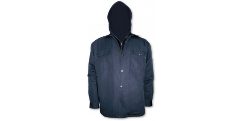 Lined shirt with hood