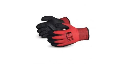 Dexterity® Gants d'hiver doublés en nylon avec paumes de PVC