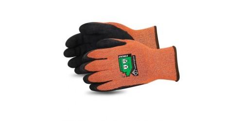 Dexterity® Gants d'hiver résistants aux coupures avec paume enduite de latex plissé, orange